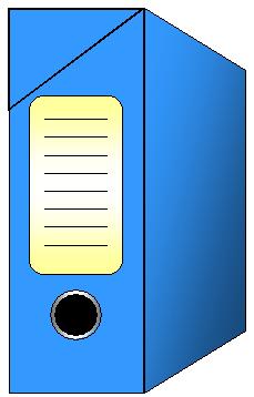 Dossier de classement de couleur bleu pour arc...