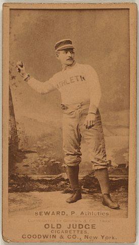 Seward , Philadelphia Athletics , Philadelphia , American Association , pitcher , Baseball cards , 1887 - Old Judge Cigarettes - Goodwin & Co., New York.