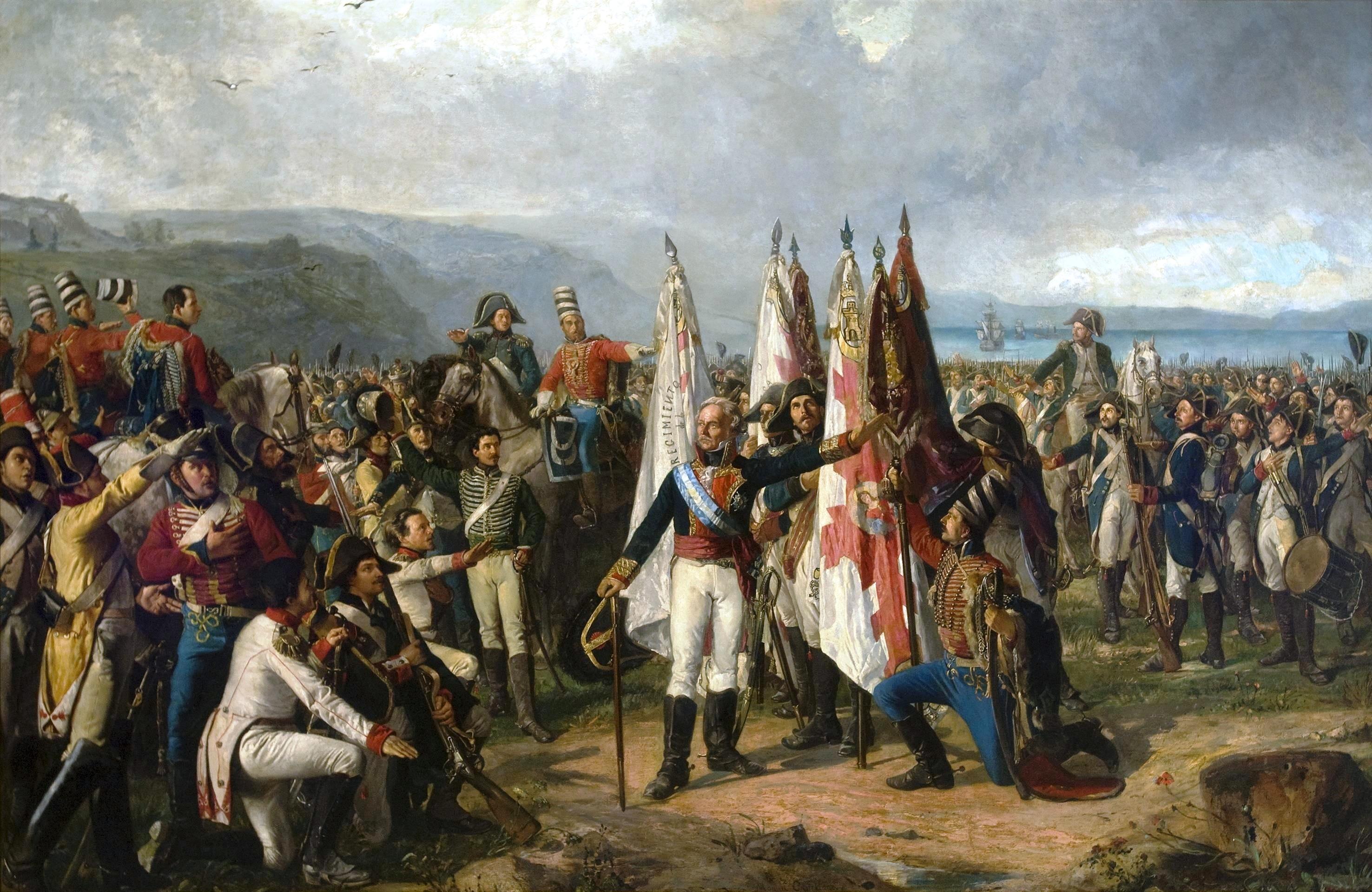 Los papeles perdidos de Rafael de Llanza y Valls (L'Aigle) El_juramento_de_las_tropas_del_Marqu%C3%A9s_de_la_Romana