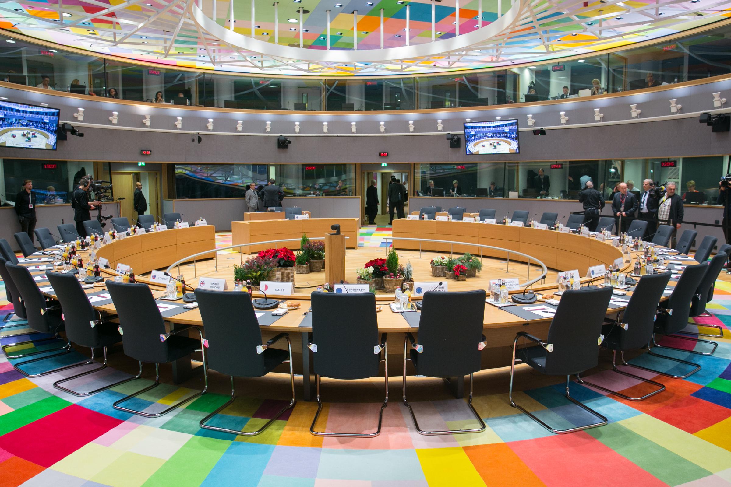 Beratungssaal des Europäischen Rates