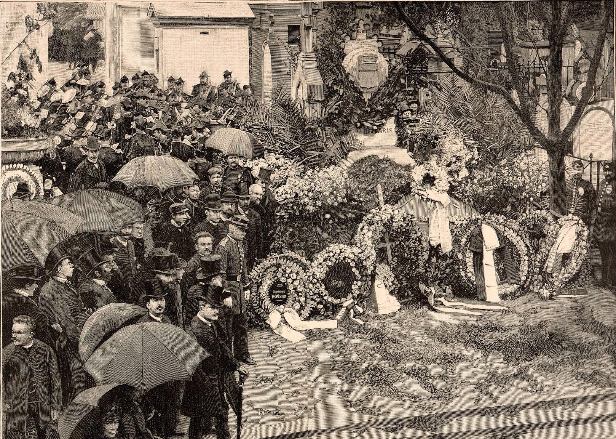 File Exhumation Des Restes De Rossini Le Catafalque