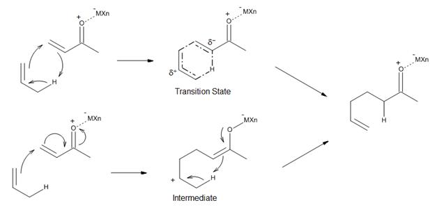 Figure 11. Mechanisms of Lewis acid-catalyzed ene reactions