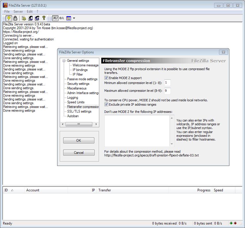 File:FileZilla FTP Server screenshot on Windows 7, by Sofia