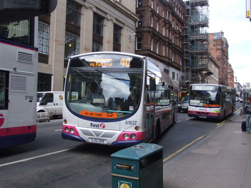 File First Glasgow Buses Jpg Wikimedia Commons
