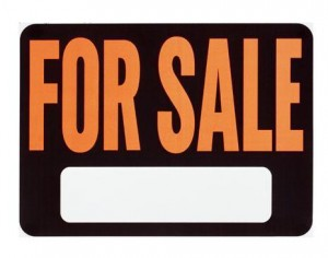 English: for sale sign