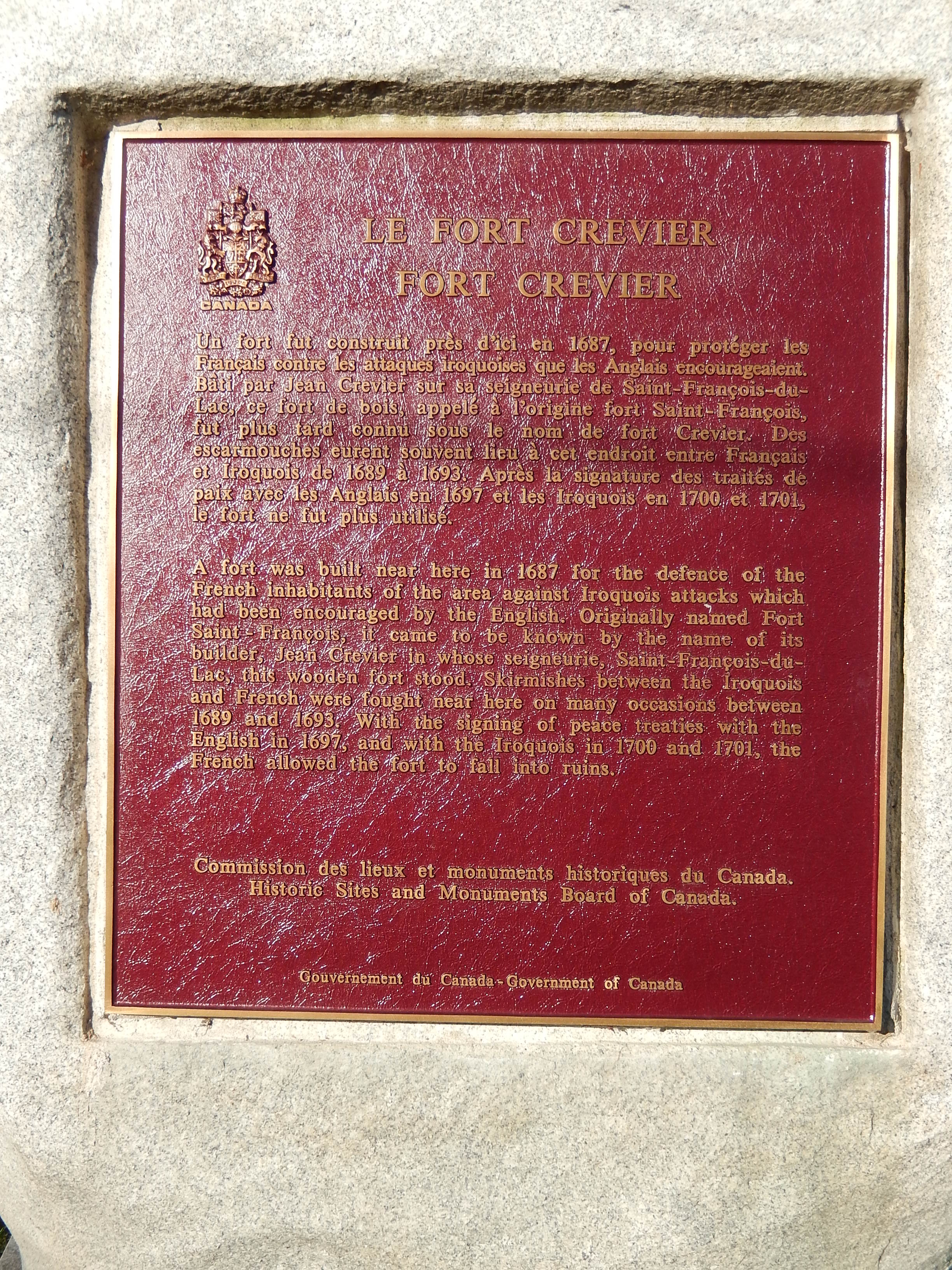 File:Fort Crevier plaque.JPG - Wikimedia Commons