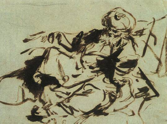 The Pasha An Ink Sketch By Jean Honor Fragonard Late 1700s