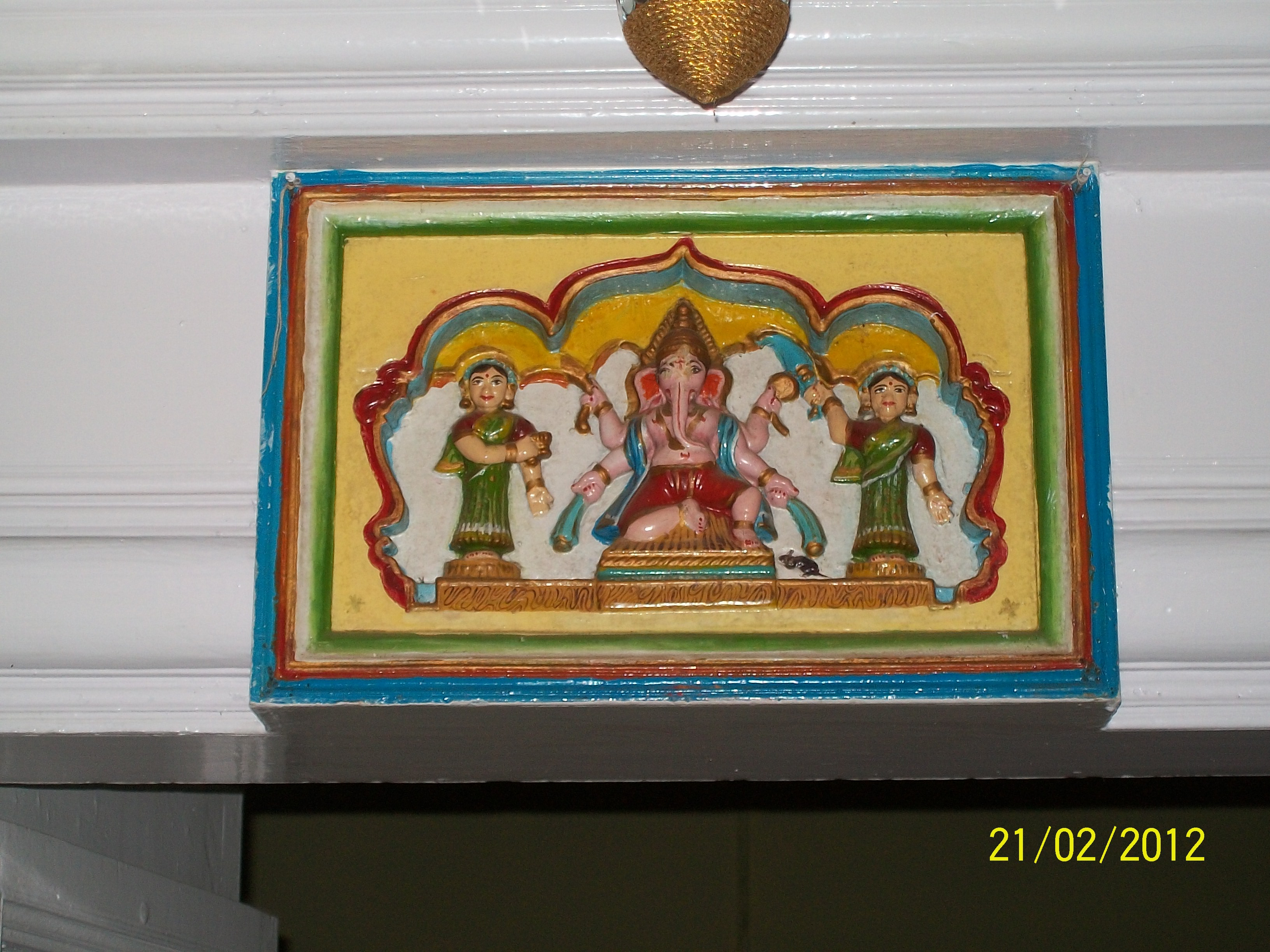 File:Ganesh Ji with Ridhi Siddhi on the Entrance Door Frame of Khase ...