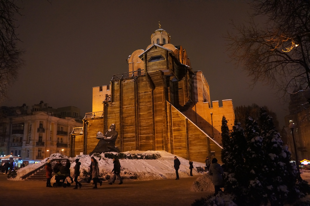 Ucrania mapa - La puerta dorada