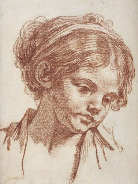 Greuze Study of a girl