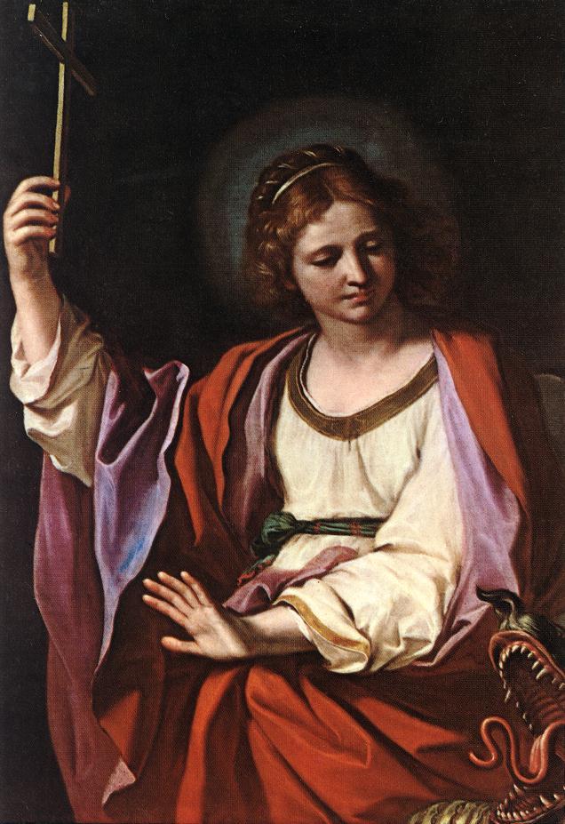 Guercino (Giovanni Francesco Barbieri) (1591-1666): St. Margareta, jomfru og martyr