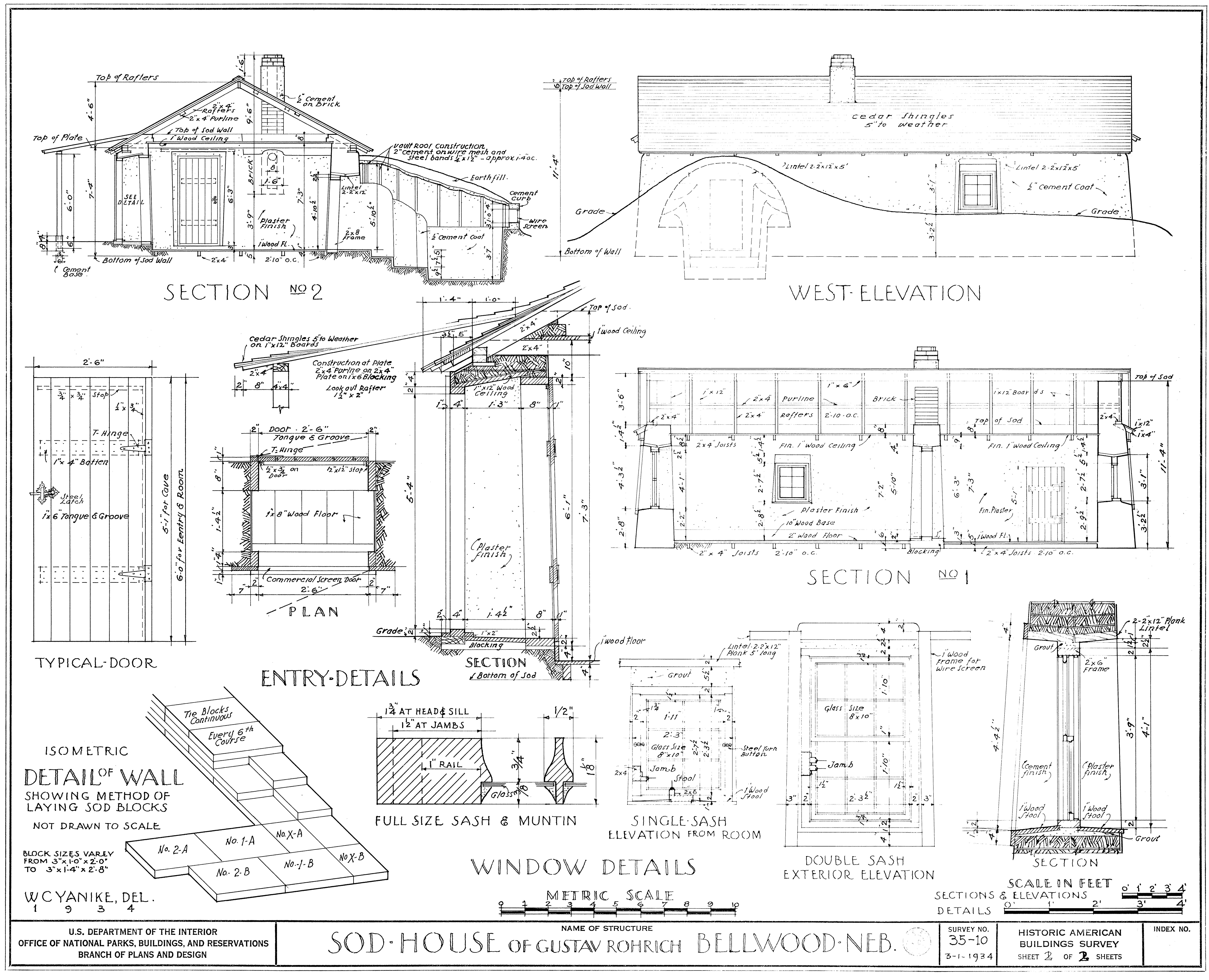 File:Gustav Rohrich Sod House, Bellwood, Nebraska - schematic.jpg ...