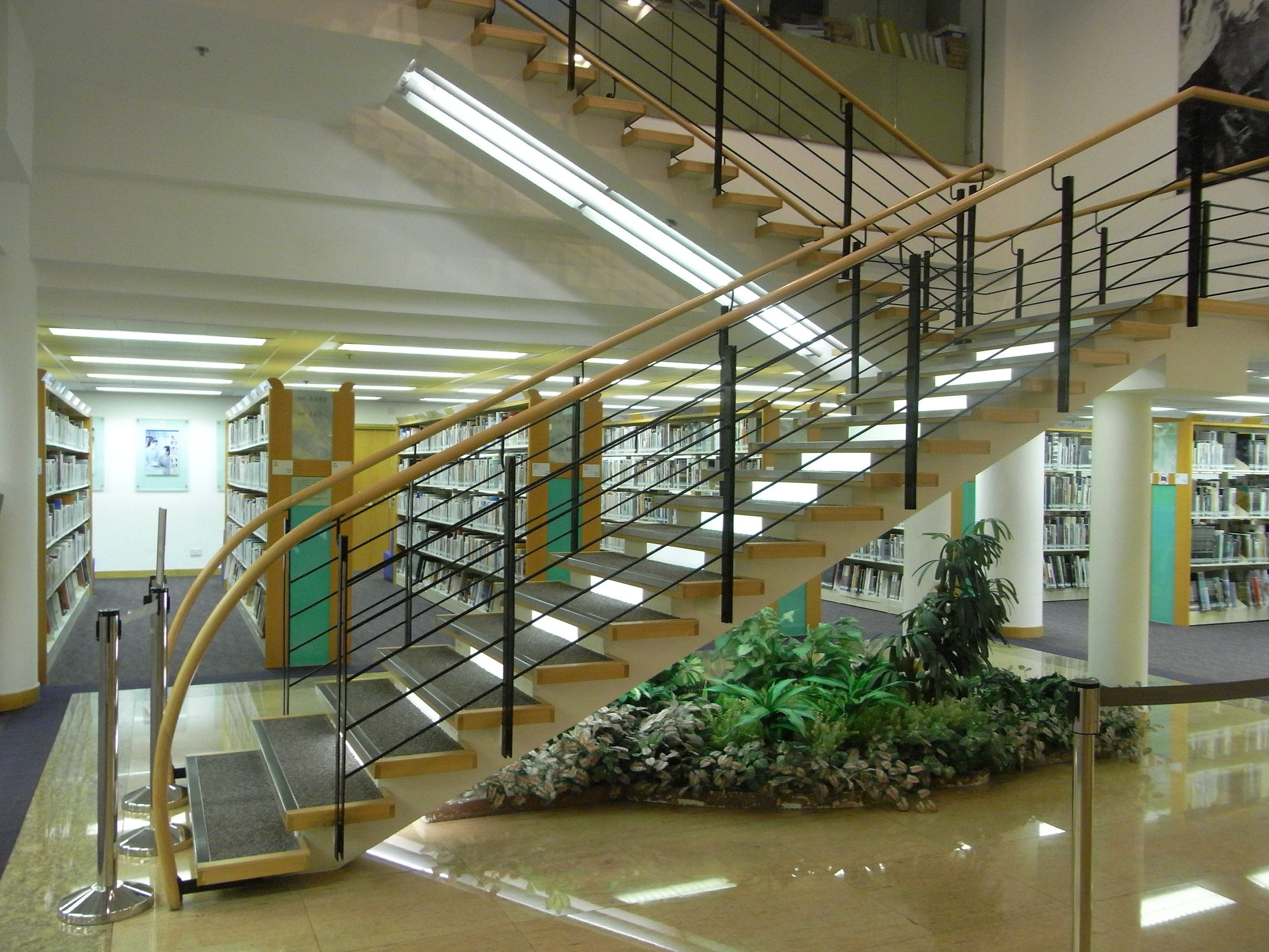 File:HK 香港中央圖書館 Central Library 10th Floor Interior Steps Stairs.JPG