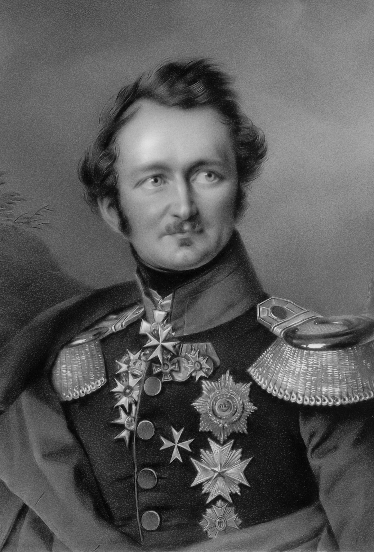 Portrait of Hermann, Fürst von Pückler-Muskau, After Franz Krüger - Derived from Stiftung Preußische Schlösser und Gärten Berlin-Brandenburg