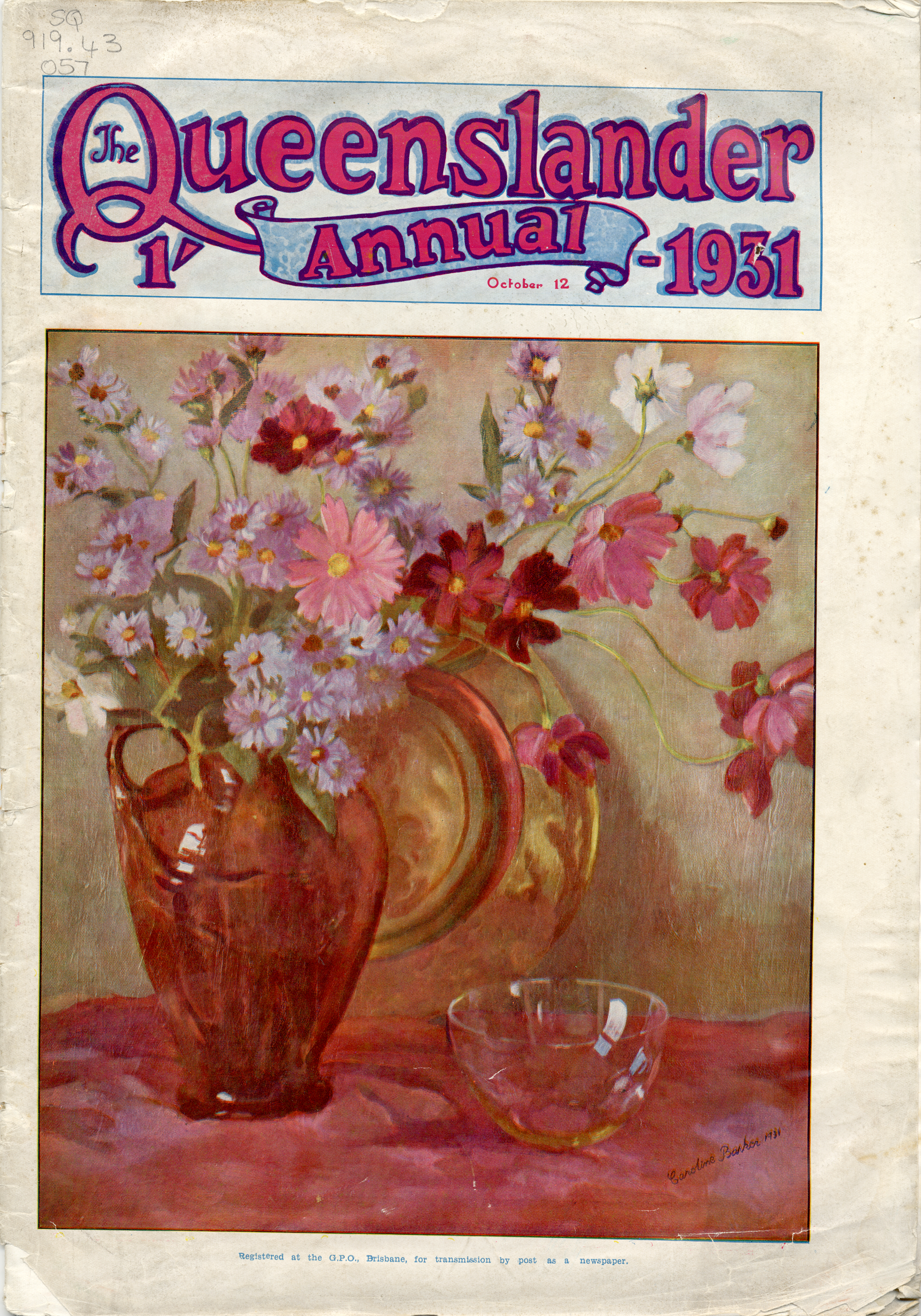 File:Illustrated front cover from The Queenslander annual October 12 1931,  art work by