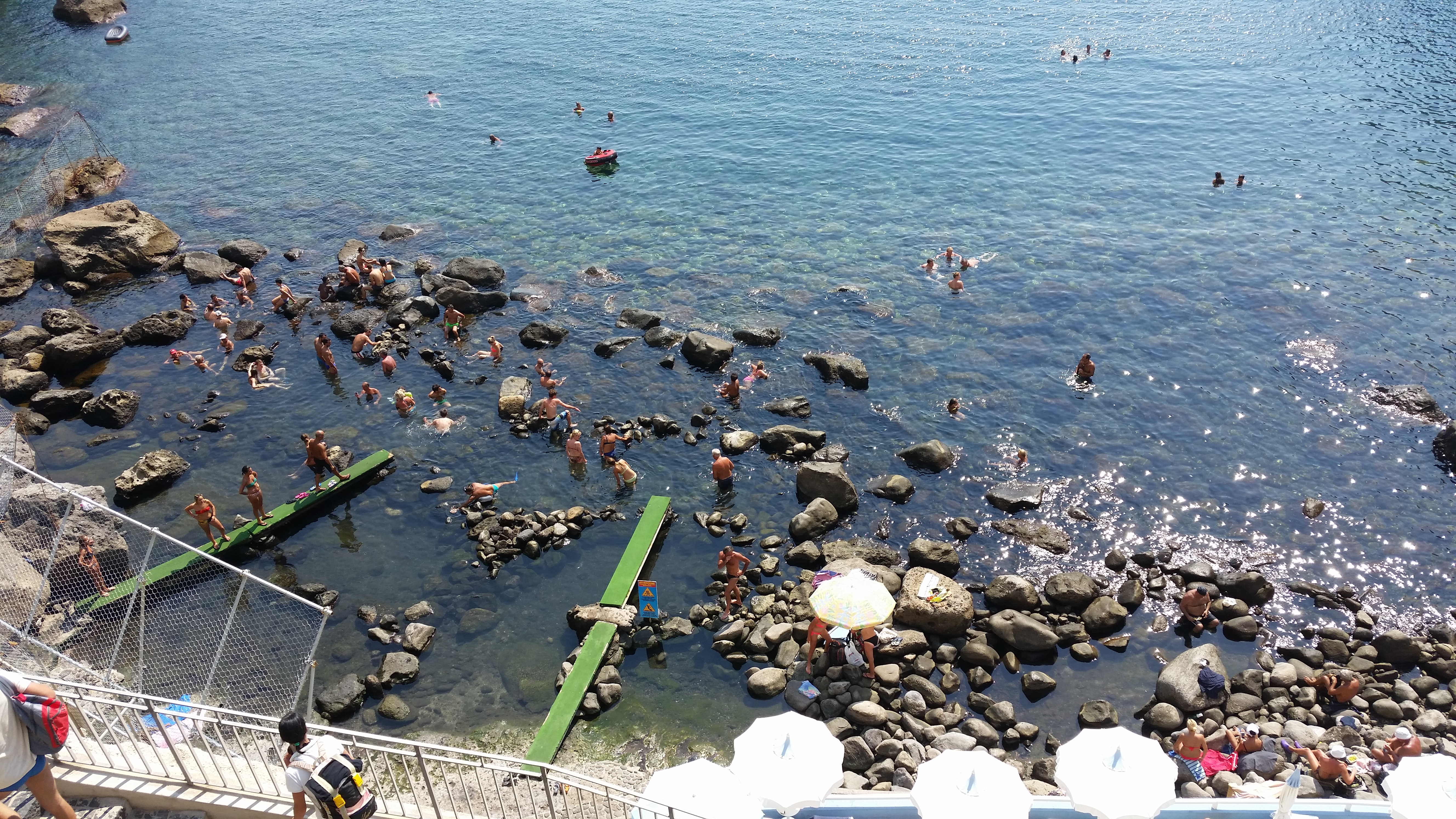 Baia di Sor o Ischia fonte di acqua calda