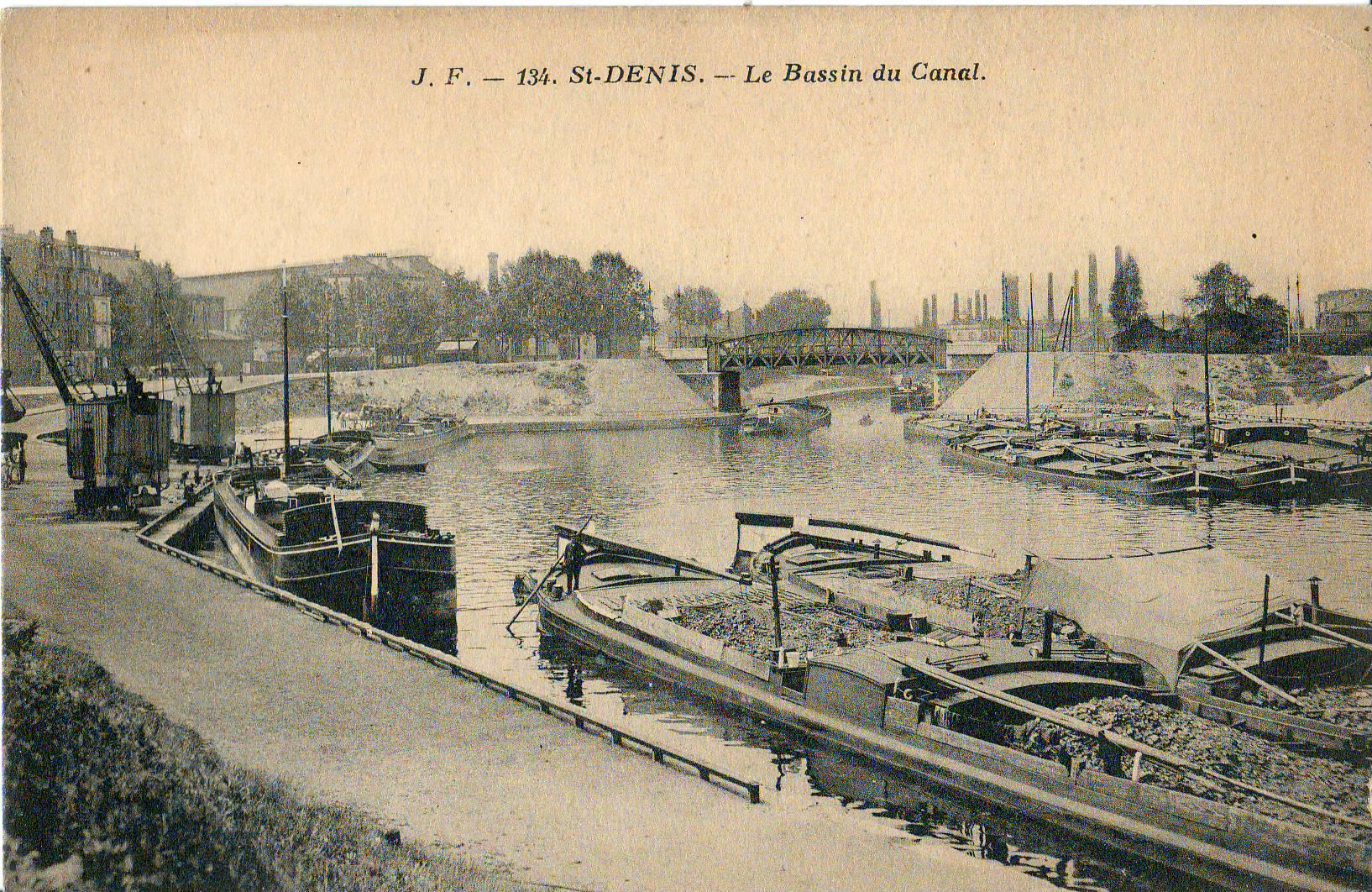 File jf 134 saint denis le bassin du canal jpg wikimedia commons - Petit bassin exterieur saint denis ...