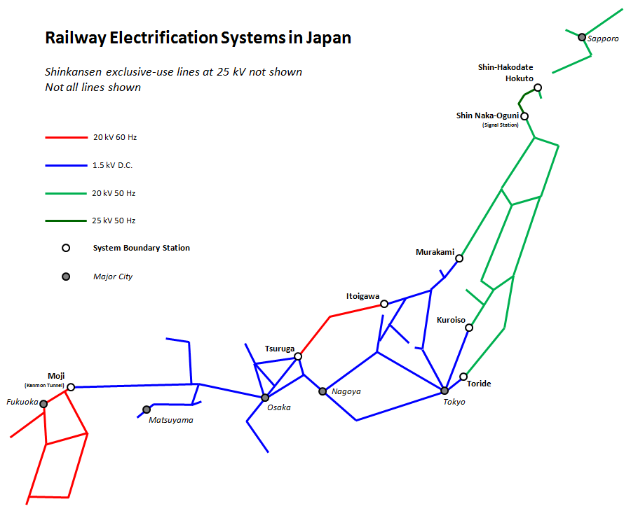 Railway Electrification In Japan Wikipedia - Japan map rail