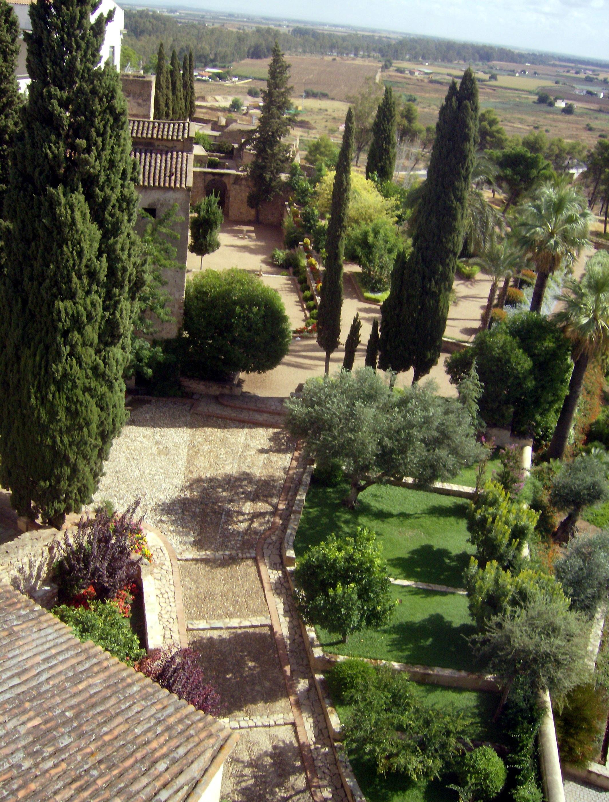 archivo jardines de la galera de badajoz desde la torre de