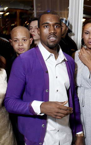 West wrote lyrics expressing an ambivalence towards his newfound wealth and fame. K. West (cropped).jpg