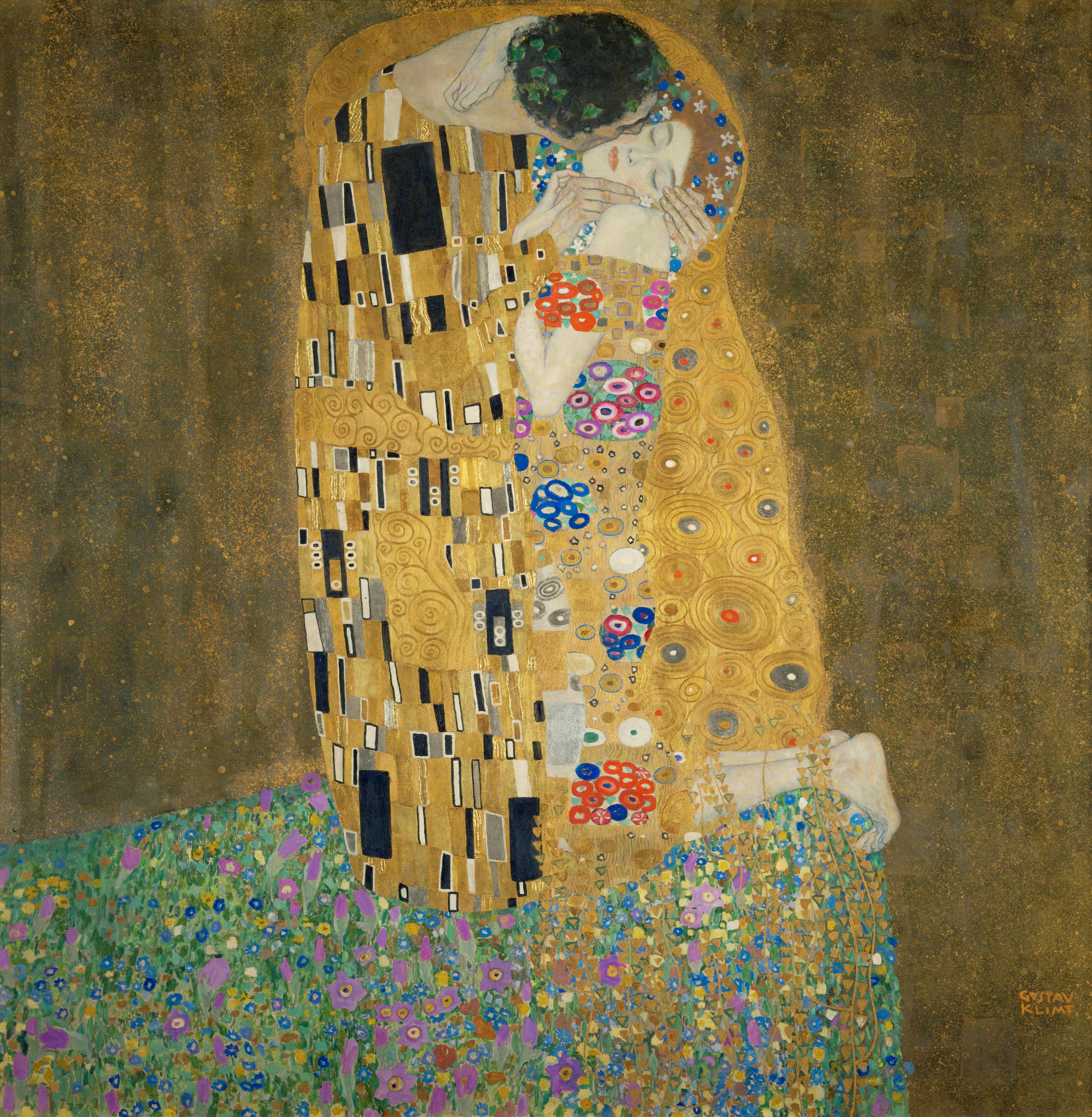https://upload.wikimedia.org/wikipedia/commons/c/c8/Klimt_-_The_Kiss.jpg