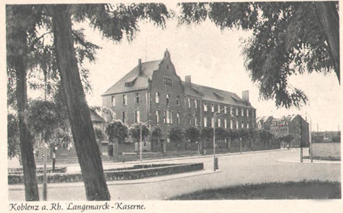 Langemarck Kaserne Koblenz, Caserne Valmy, General Frere Caserne Coblence
