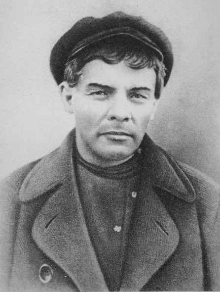 Ulyanov (Lenin) in a wig and makeup. On the identity card in the name of the working KP Ivanov.