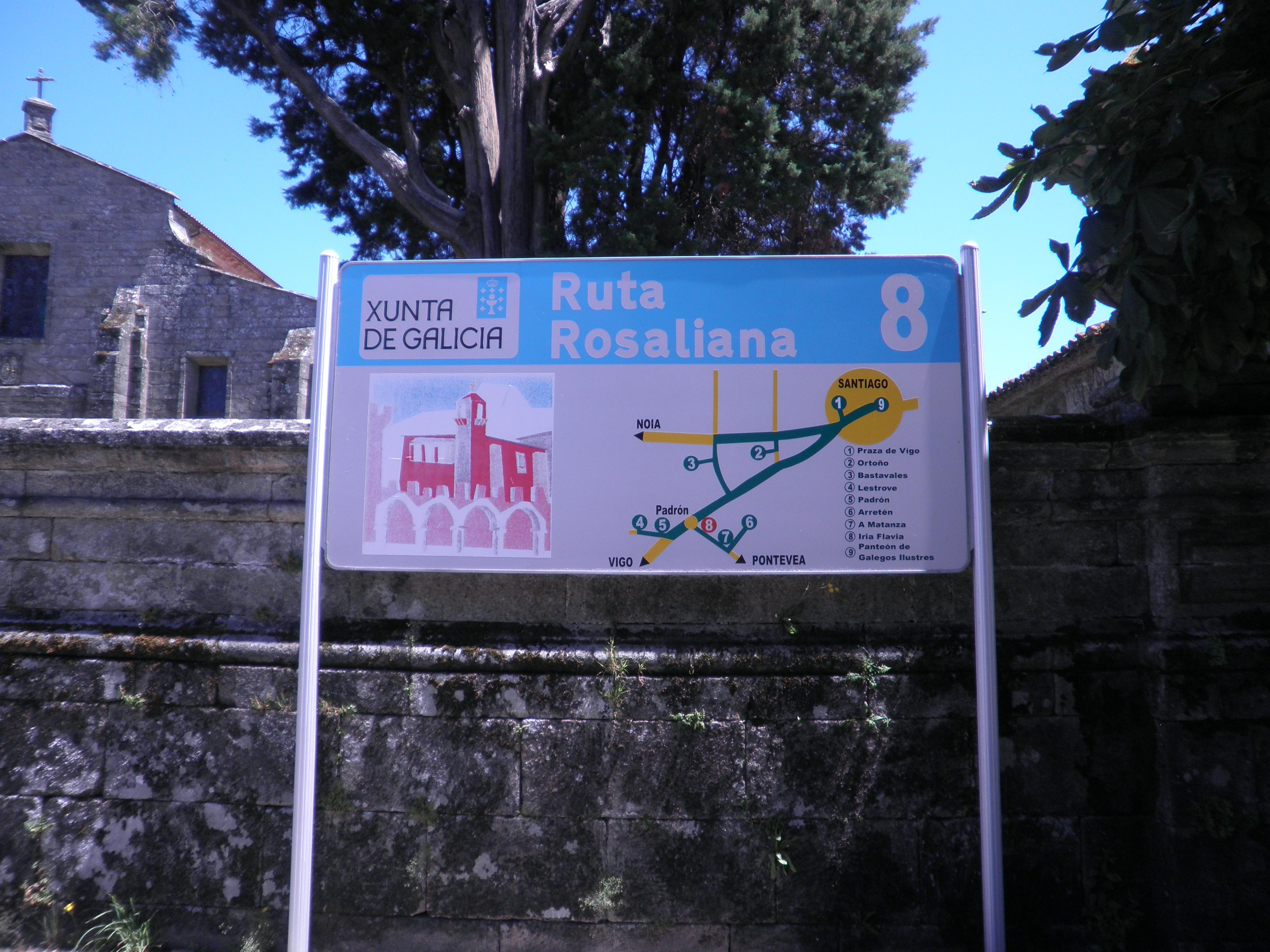 cartel de la ruta rosaliana