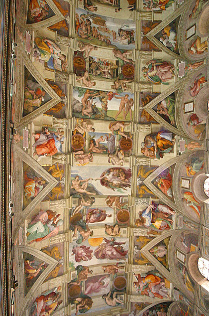 Sistine chapel ceiling wikimedia commons - Michel ange chapelle sixtine plafond ...