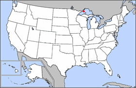 the location of Isle Royale National Park