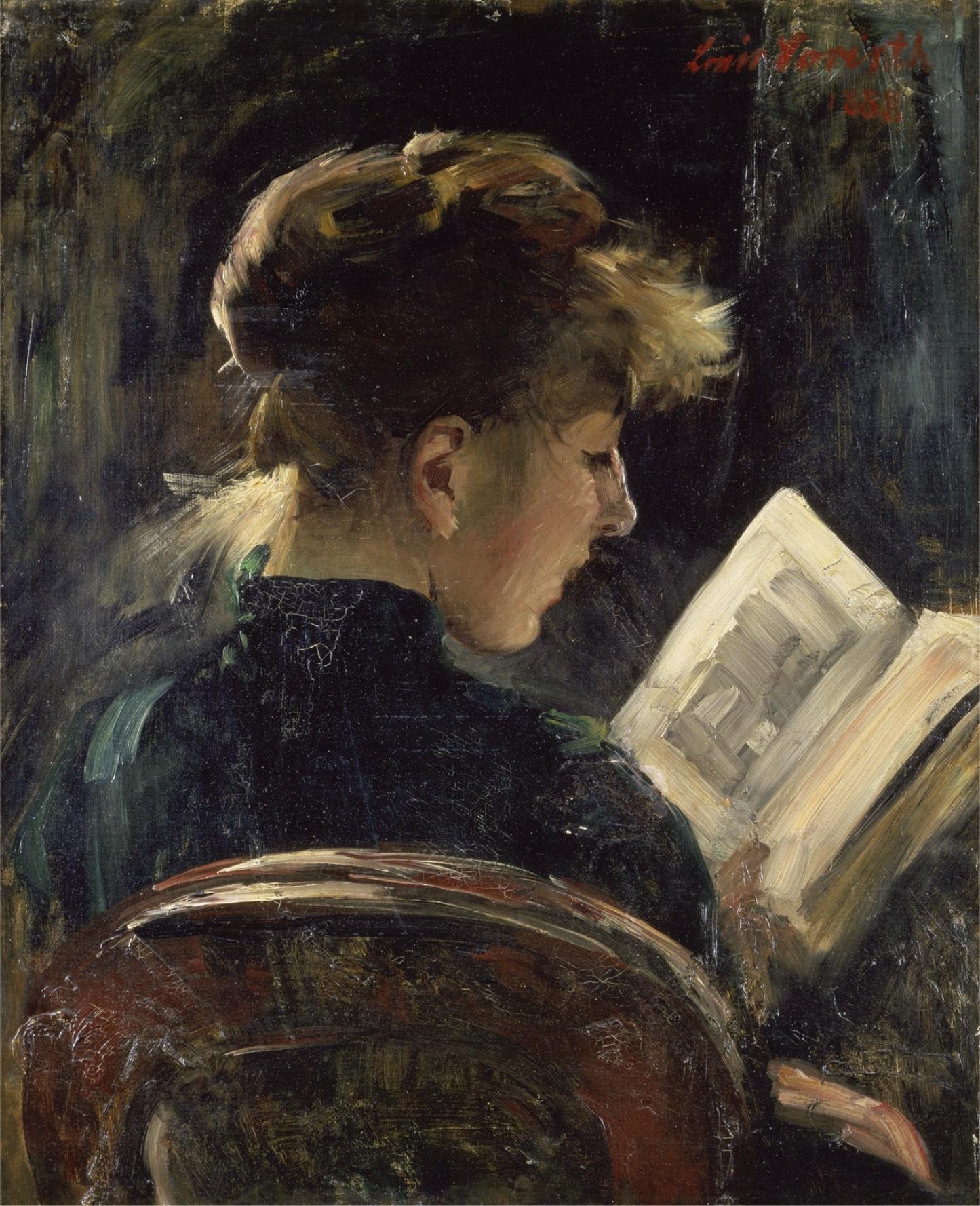 Lesendes Mädchen von Lovis Corinth (1888)
