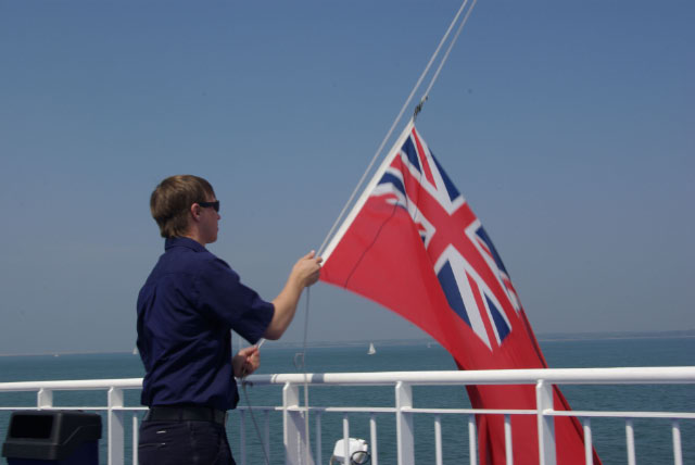 Lowering the flag - geograph.org.uk - 1389086
