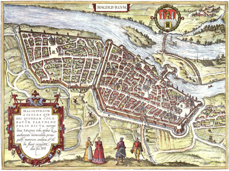 Frans Hogenberg: Magdeburg um 1572
