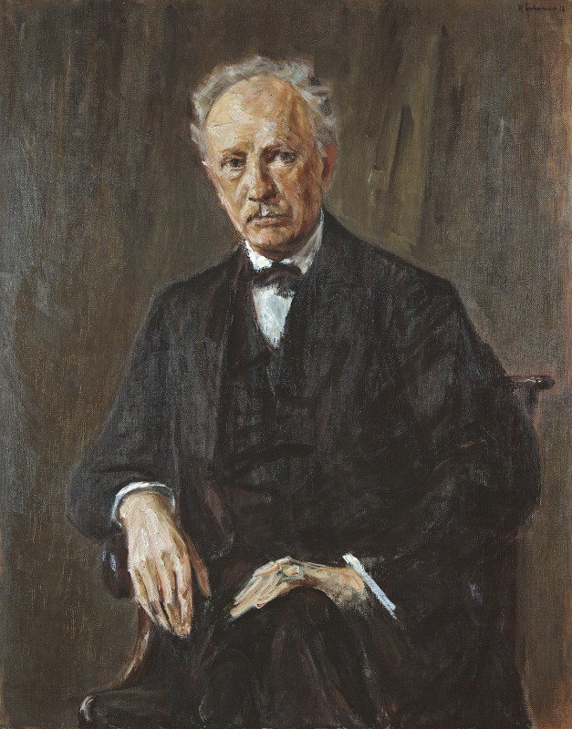 Portrait of Strauss by [[Max Liebermann]] (1918)