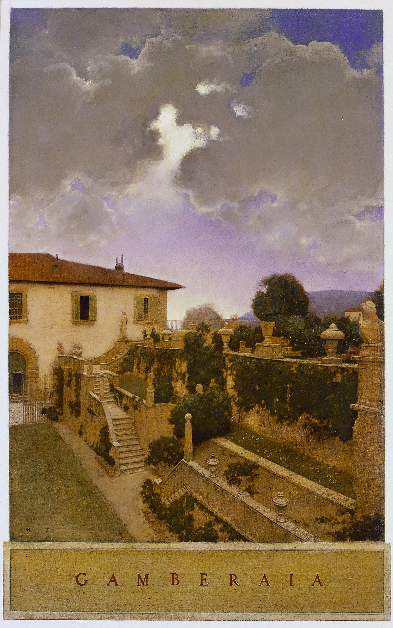 Maxfield Parrish, Villa Gamberaia, Settignano, ca. 1903, The Minneapolis Institute of Arts, Minneapolis, Minnesota, USA.