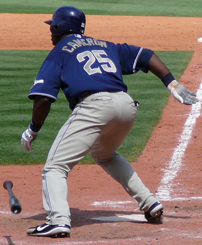 Cameron batting for the Padres in 2007.
