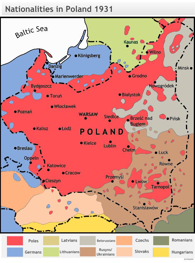 Struktura narodowościowa II RP w 1931 r.