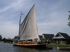 The Wherry Hathor on the river Bure