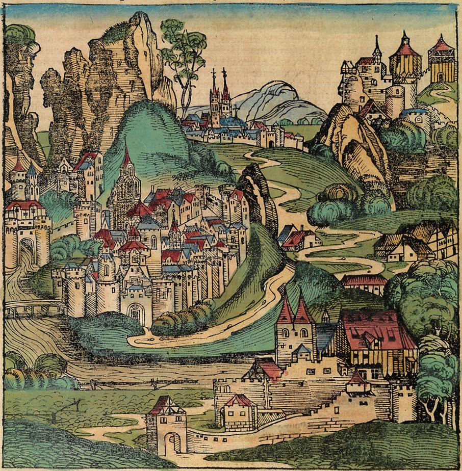 Michael Wolgemut Illustration from the Nuremberg