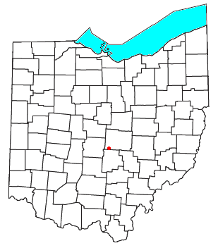 Location of Etna Township in Licking County, Ohio