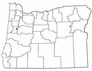 Location of Corvallis, Oregon