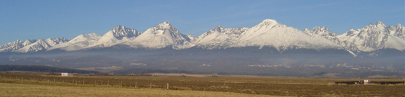 Panorama of the High Tatras from Poprad