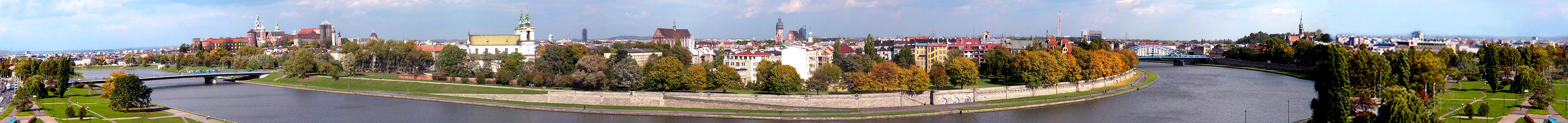 Cityscape of Kraków, Poland's former capital