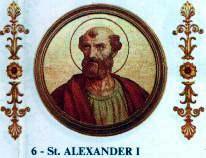 Resultado de imagen para Papa San Alejandro