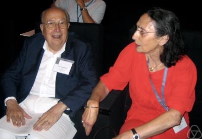 Paul Malliavin at the [[International Congress of Mathematicians|ICM]] 2006 in Madrid, with Marie-Paule Malliavin