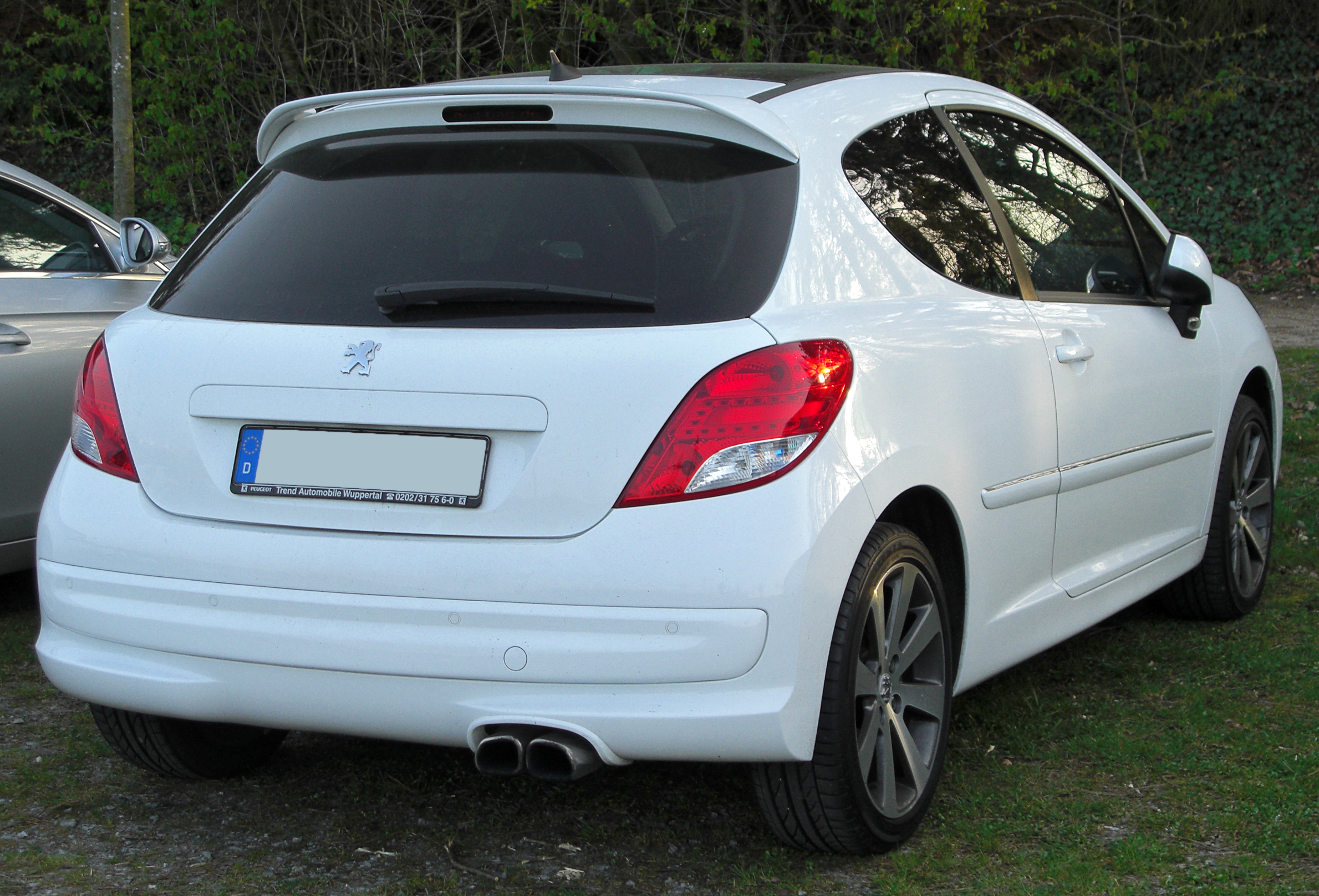 file peugeot 207 rc facelift rear wikimedia commons. Black Bedroom Furniture Sets. Home Design Ideas