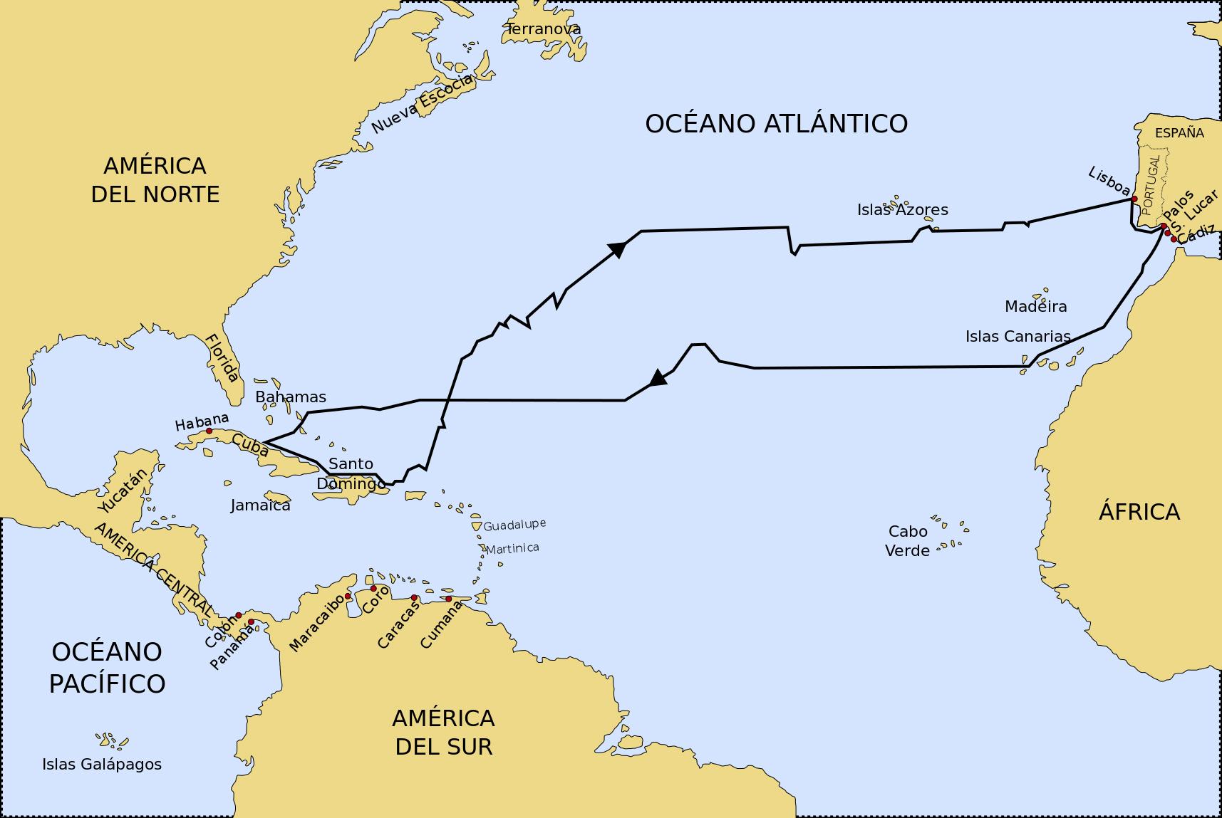 File primer viaje de col n 2 jpg wikimedia commons for Cuarto viaje de cristobal colon