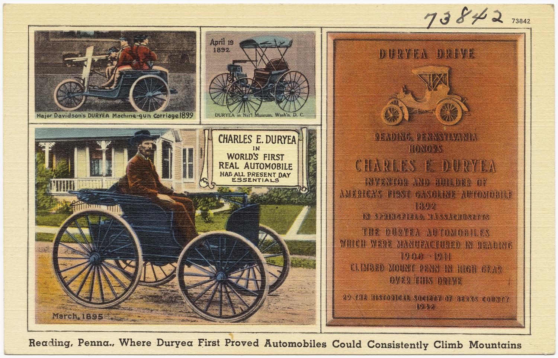 Duryea Motor Wagon First Car Crash