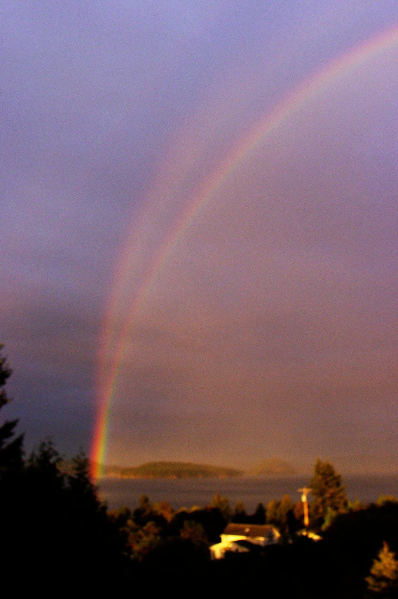 50 incredible inspirational double rainbows pics