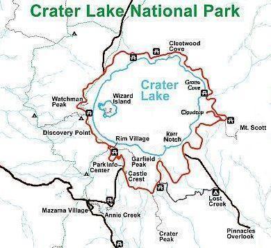 FileRim Drive Map Crater Lake National ParkJPG Wikimedia Commons - Us map crater lake